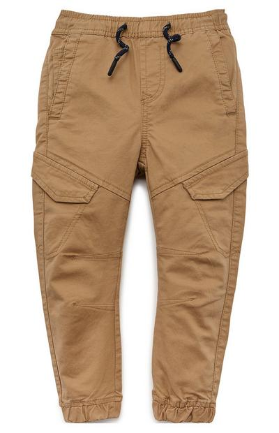 Younger Boy Taupe Cargo Trousers