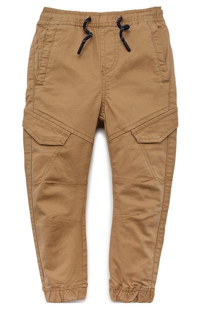 Pantalon cargo taupe garçon