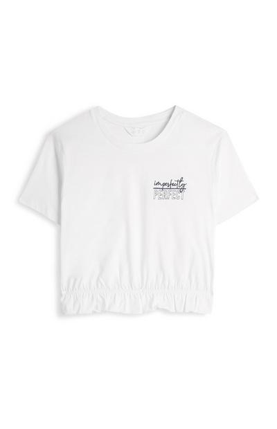Imperfectly Perfect Cropped Slogan T-Shirt