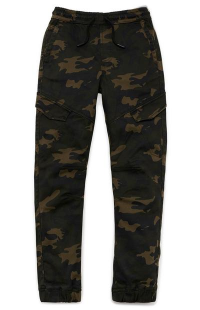 Older Boy Camouflage Cargo Trousers