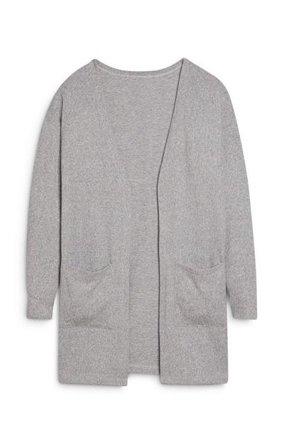 Older Girl Grey Cardigan