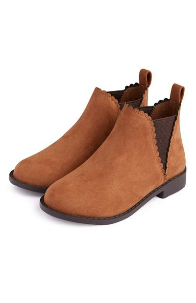Bottines Chelsea marron recyclées fille