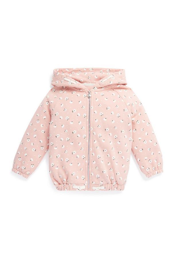 Younger Girl Pink Zip Up Hoodie