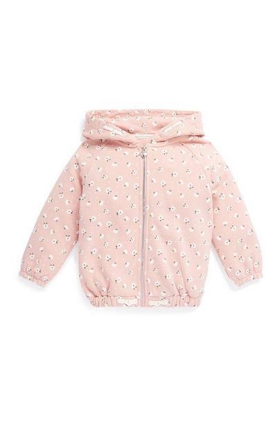 Younger Girl Pink Zip Up Hoodie
