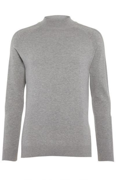 Grey Longsleeved Turtle Neck Jumper