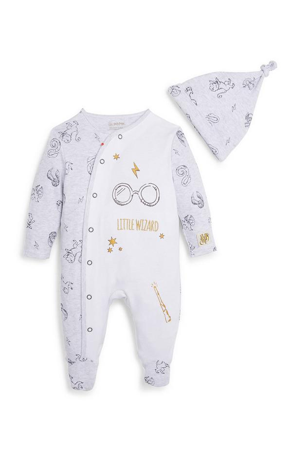Baby Harry Potter Sleepsuit and Hat