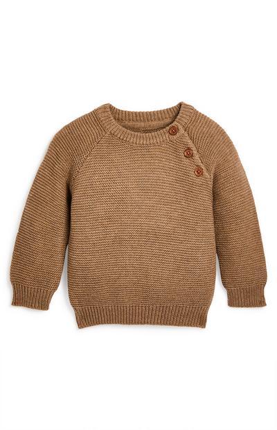 Baby Boy Cotton Crew Neck Sweater