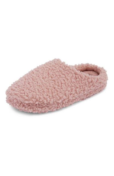 Blush Fleece Mule Slippers