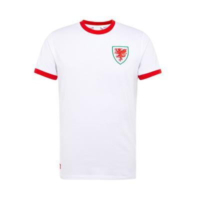 White Wales Euros Football T-Shirt