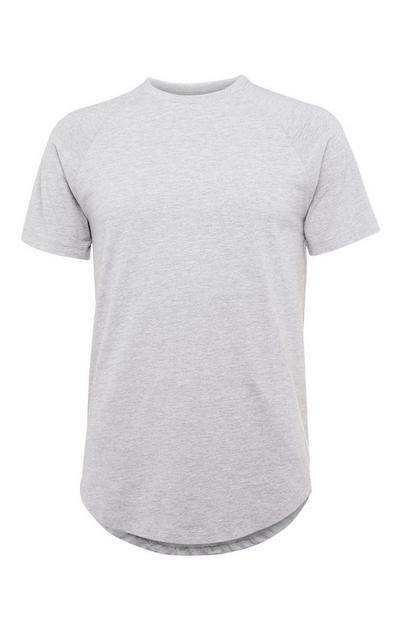 Grey Stretch Longline T-Shirt