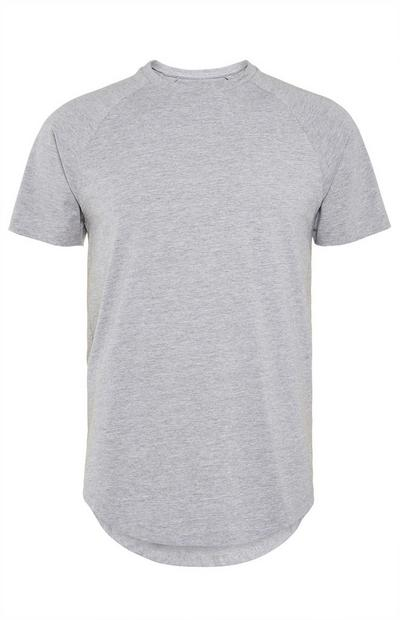 Maglietta lunga elasticizzata grigia