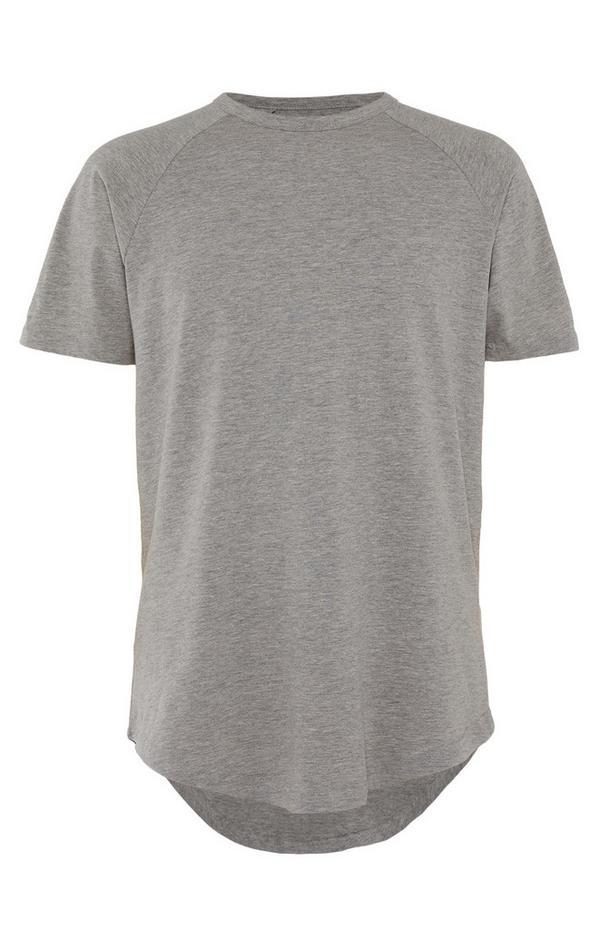 T-shirt long gris
