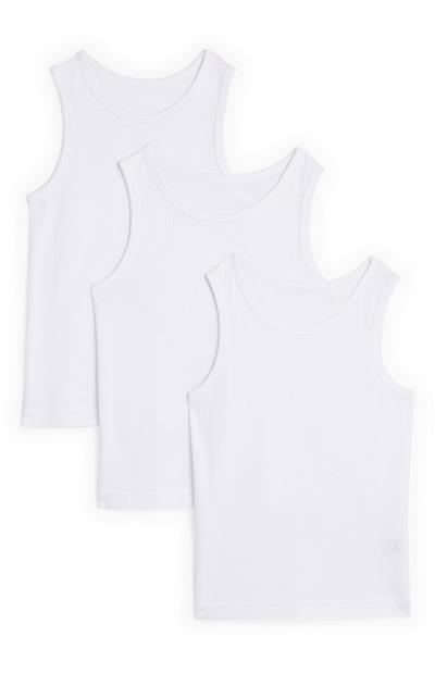 Boys White Thermal Vests 2 Pack
