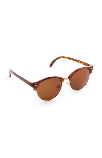 Sonnenbrille in Schildpattoptik mit runden Gläsern