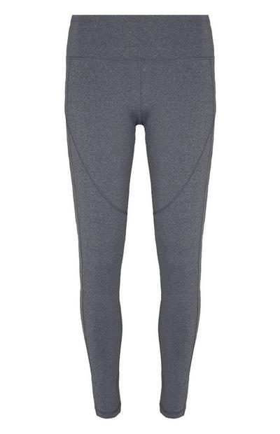 Leggings modeladoras cintura subida cinzento