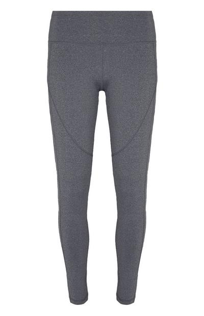 Graue High-Waist-Leggings