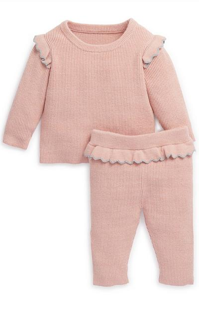 Baby Girl Blush Knit Set