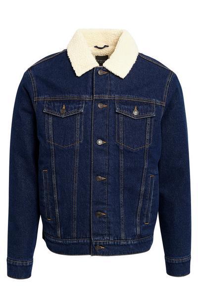 Borg Blue Denim Jacket
