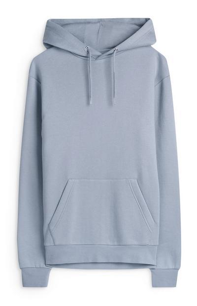 Camisola capuz básica azul-claro