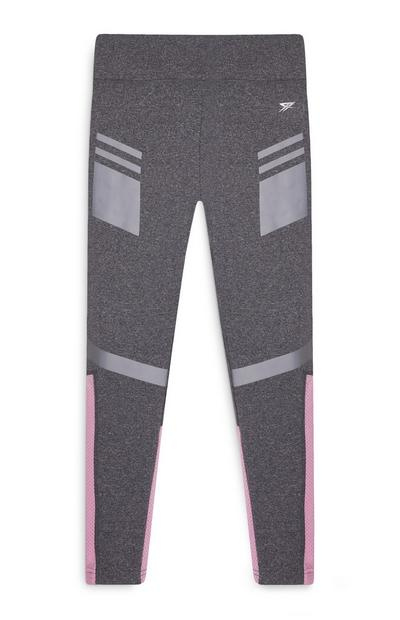 Grau-rosafarbene Sportleggings (Teeny Girls)