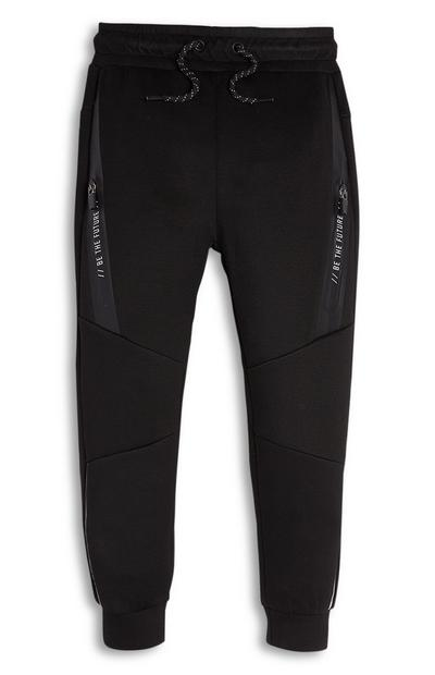 Younger Boy Black Soft Feel Joggers