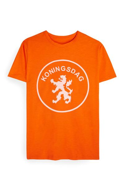 "Orangefarbenes ""Kings Day Logo"" T-Shirt"
