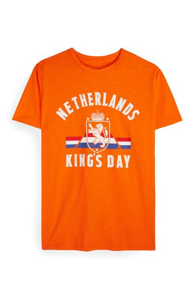 "Orangefarbenes ""Kings Day"" T-Shirt"