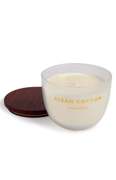 Wooden Lid Clean Cotton Candle