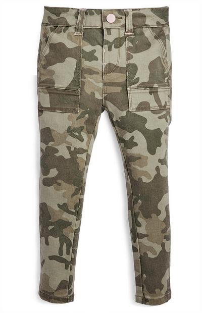 Younger Girl Camo Cargo Skinny Pants