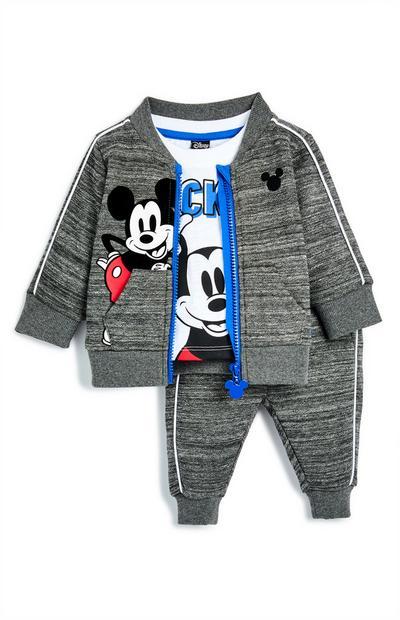 Conjunto de chándal gris de Mickey Mouse para bebé niño