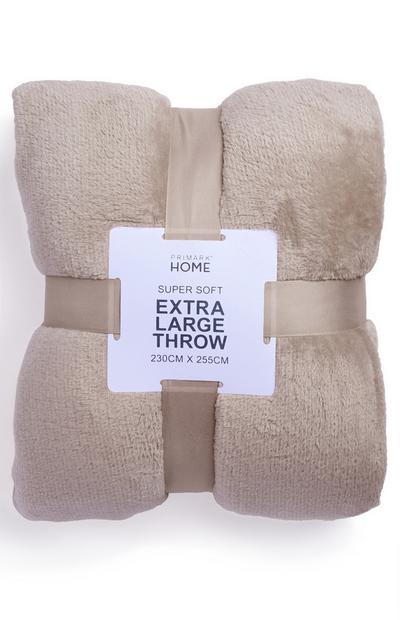 Beige Extra Large Throw