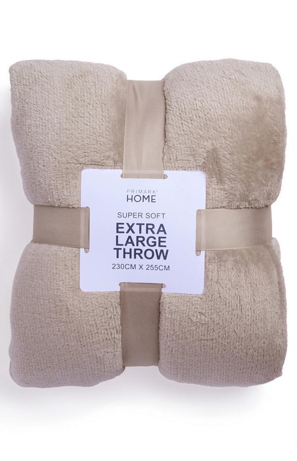 Beige XL Supersoft Throw