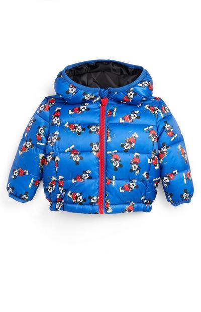 Baby Boy Blue Mickey Mouse Padded Jacket