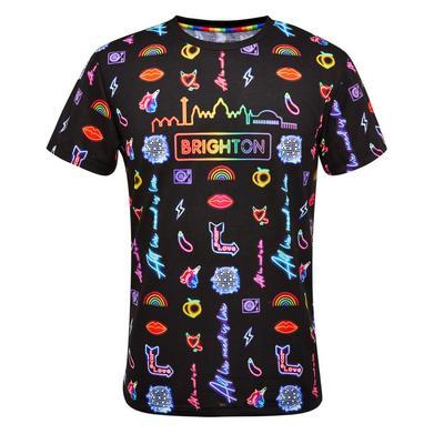 Proud Neon Brighton Print T-Shirt