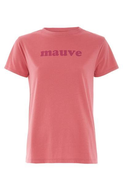 Pink Mauve Print T-Shirt