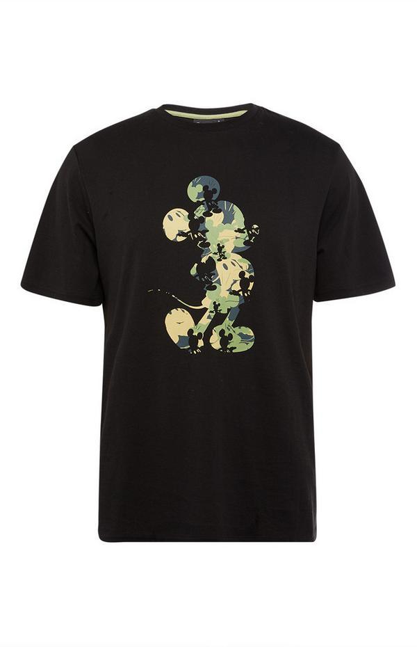 """Schwarzes """"Micky Maus"""" T-Shirt mit Tarnmuster"""
