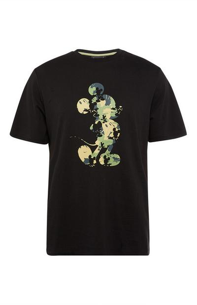 T-shirt noir Mickey Mouse camouflage