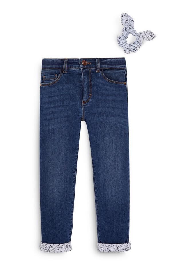 Gevoerde jeans en haarwikkel voor meisjes