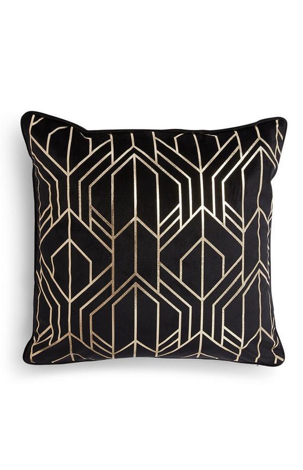 Geometric Foil Cushion Cover