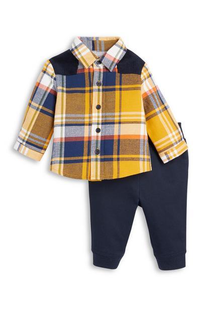 Overhemd en joggingbroek, babyjongens