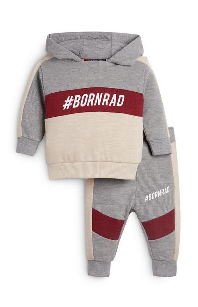 Baby Boy Born Rad Hoodie And Jogger Set