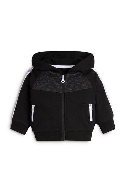 Baby Boy Sporty Black Zip Top