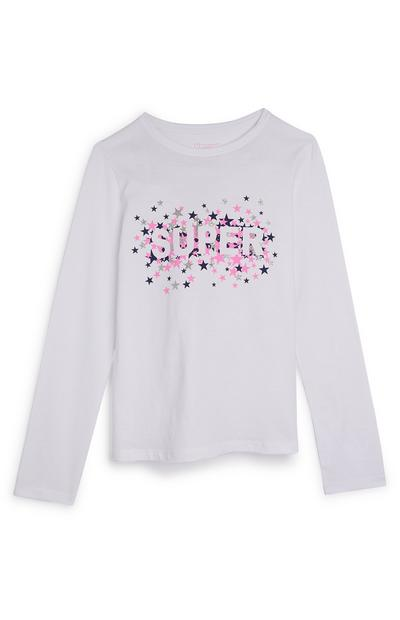 Older Girl White Super Longsleeve Top