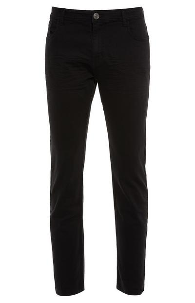 Straight Twill Black Trousers