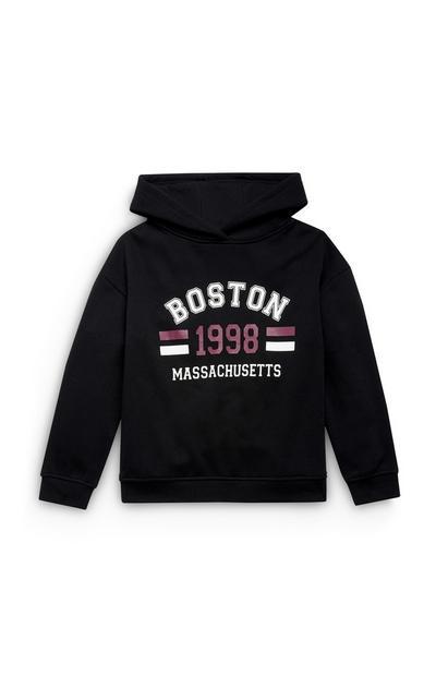Sudadera con estampado de Boston para niña mayor