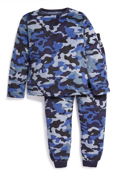 Younger Boy Blue Camo Pyjama Set