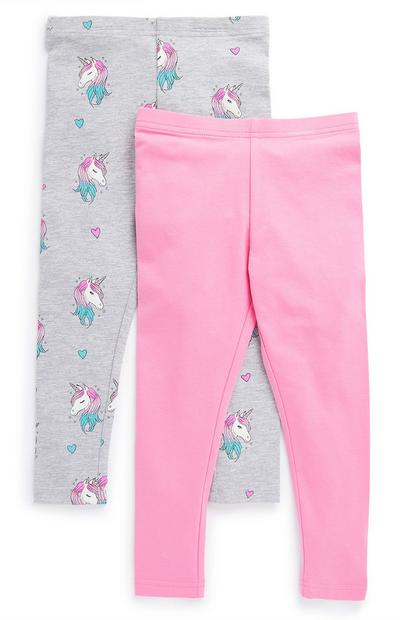 Meisjesleggings, set van 2