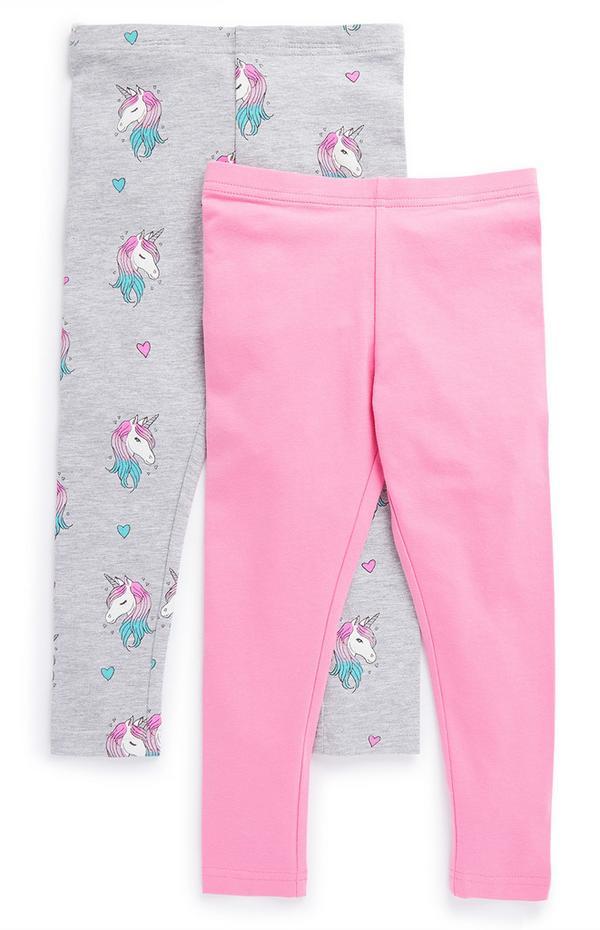 Pack de 2 leggings para niña pequeña