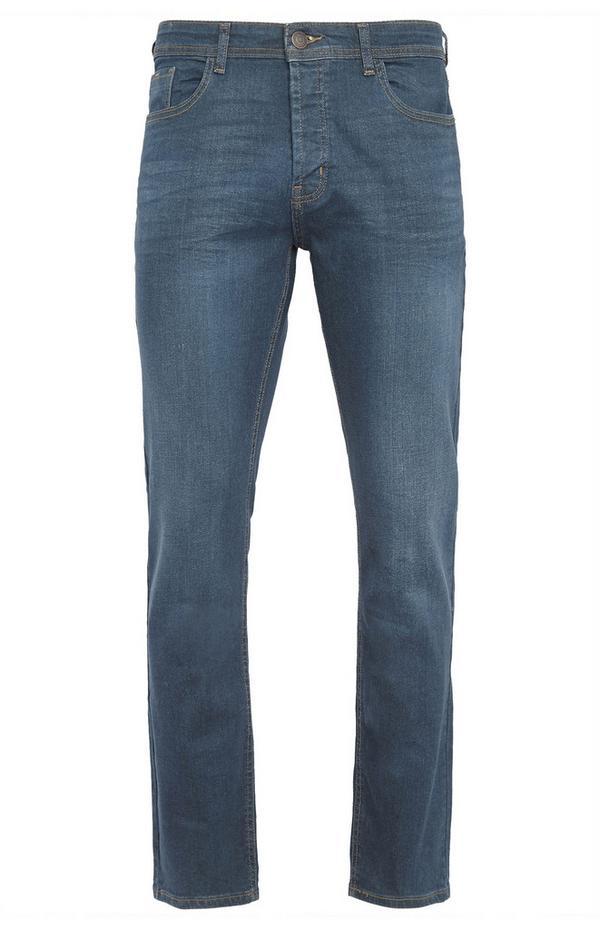 Groene jeans met rechte pijpen