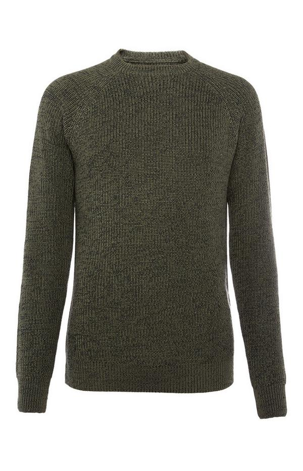 Grey Texture Rib Sweater